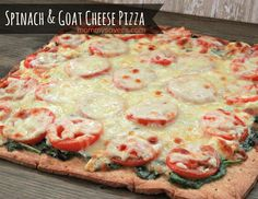 Spinach and Goat Cheese Pizza 1/2 bag spinach 2 cloves garlic, finely minced 2 Tbsp. extra virgin olive oil tomatoes, thinly sliced 4-oz. package garlic herb goat cheese 8-oz. package shredded Mozzarella Cheese 1 premade pizza crust Preheat oven to … Continue reading →