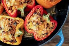 Southwestern Turkey and Quinoa Stuffed Peppers. Unbelievably healthy and delicious.