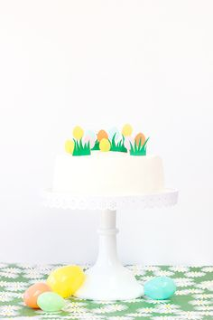 DIY Easter Egg Hunt Cake