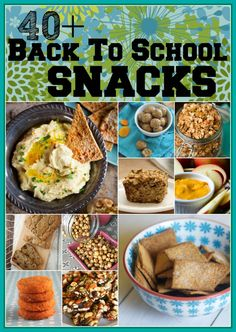 40 Plus back to school snack collection | Healthy Seasonal Recipes