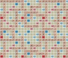 Scrabble fabric Word Game Solid Print fabric by seidabacon on Spoonflower - custom fabric