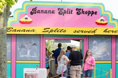 A Banana Split Festival has to have an ice cream shoppe! The Banana Split Shoppe - Serving banana splits at the only banana split festival in the United States! The event of the year in Clinton County in Southwest Ohio. Photo by Brittany Abraham. http://www.clintoncountyohio.com/