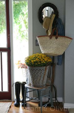 the doors, back doors, bucket, front doors, foyer, entryway decor, fall home, jeann oliv, country homes