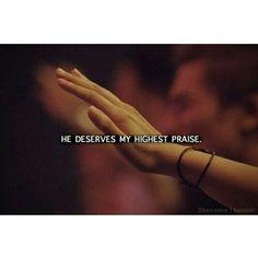 He deserves my highest price