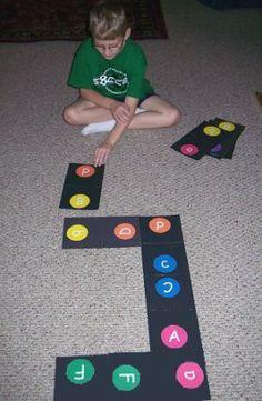 Alphabet floor dominoes