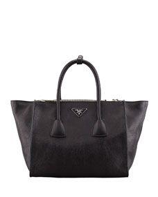 "Prada Glace Calf Twin Pocket Tote Bag, Black worn on Scandal episode 315 ""Mama Said Knock You Out."""