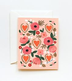 Be Mine Card from Rifle Paper Co - frame for V-Day decorating