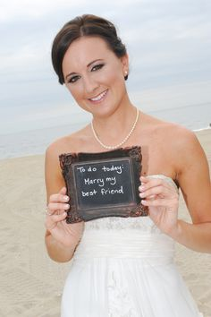 DIY wedding chalk board sign