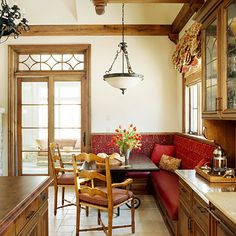 Unified Cabinets and Banquette