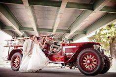 firefighter + fire truck = love.