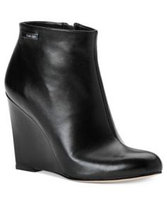 calvin klein wedge ankle boot