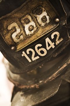9/11 firefighters hat recovered from the ashes. Photo: Shay Bull