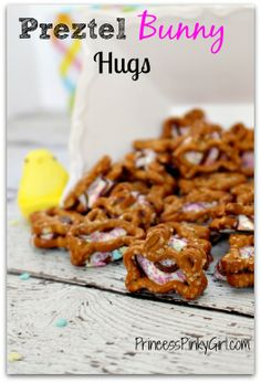 bunny pretzel hugs - Great (easy) Easter  treat!