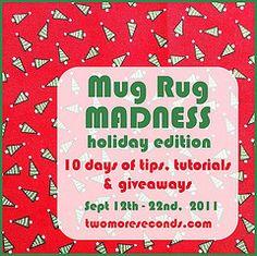 holiday mug rugs (good list of tutorials. Very adaptable to non holiday uses)
