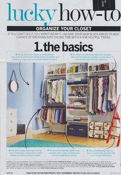 Here are some more great tips on organizing your closet!