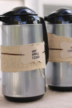 cute way to label carafe