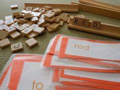 Sight Word Scrabble