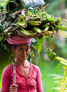 Indonesian woman. She is beautiful.