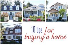ten tips for buying a home