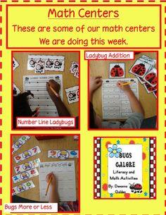 Golden Gang Kindergarten: Math Centers (free)