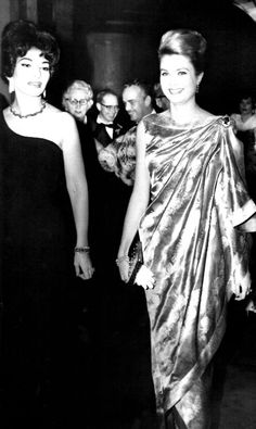 Monte-Carlo International Television Festival II. Princess Grace and Maria Callas. January 19, 1962. princess grace, montecarlo