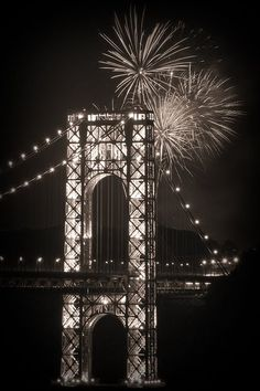 George Washington Bridge at night, NYC