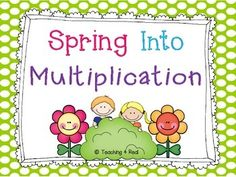 FREEBIE....Spring Into Multiplication Practice Multi-Digit multiplication with and without decimals multipl practic, multidigit multipl, free spring, 5th grade, multi digit multiplication