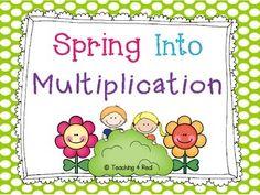 multipl practic, multidigit multipl, free spring, 5th grade, multi digit multiplication