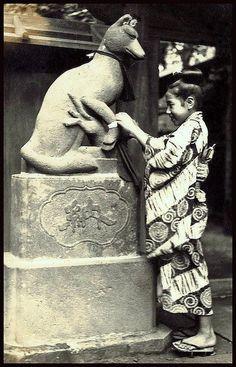 Tying Fortune on Fox - Kitsune - T. Enami - 1915-25 ~