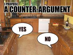 A counter argument. BRILLIANT #jokes #funny cjotd-editorial-team-inspiration