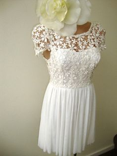 Wedding dress inspiration on pinterest 61 pins for Daisy lace wedding dress