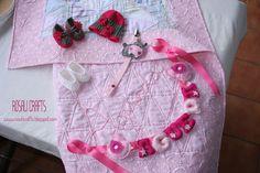 Rosalí Crafts. Accesorios personalizados.: Pack de regalo recién nacido