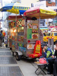 Attention grabbing street food in New York City.