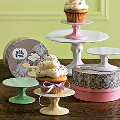 craft, cupcake stands, little cakes, cupcak stand, mini cupcakes, 1st birthdays, mini cakes, hat box, treat