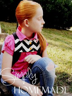 simply homemade: Padded backpack chest strap tutorial