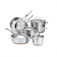 Anolon Nouvelle Copper Stainless Steel 10-Piece Set, available at the Food Network Store