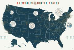 popchartlab:    With 1,000 breweries mapped over 7 square feet, your summer road trip just planned itself.  Get The Breweries of the United States for 20% off now through 5/30 at noon EDT.