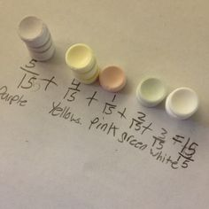 Smartie fractions...gotta love candy!