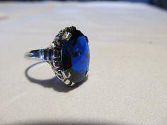 Stunning Art Deco Blue Sapphire 10kt White by ReVintageLannieJewls, $935.00