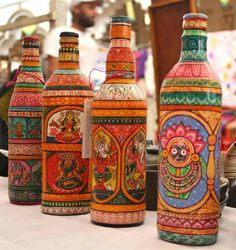 painted bottles  |  blog.bayteccontainers.com