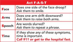 Minutes Matter. Strokes are a race against time. Learn the warning signs of a stroke.