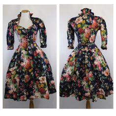 Midi Dress 3/4 Length Sleeve Womens Fall Clothing Dresses Small 4 / 6