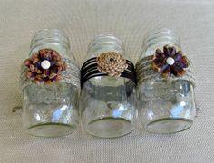 Pine Cone Flower Mason Jars