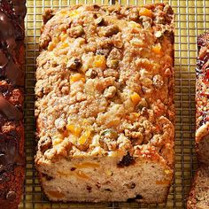 Fold mango into this yummy banana bread for a fruit-filled breakfast dish! http://www.bhg.com/recipes/party/seasonal/mango-recipes/?socsrc=bhgpin082914mangogingerbread&page=18