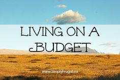 Tips for Living on a Budget