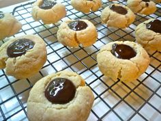 Easy Chocolate Thumbprint Cookies