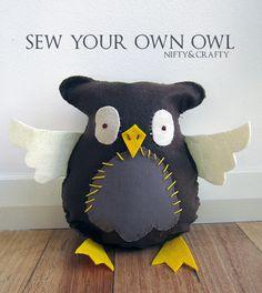 DIY Owl Softie Pinned by www.myowlbarn.com