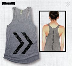 Pin it to win it!! Better Than Yesterday Grey/Black Eco Tank top by everfitte on Etsy