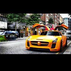 Vibrant Orange Mercedes Benz SLS