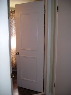 Faux paneled door DIY